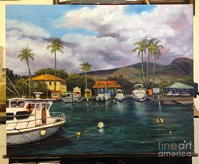 Painting - Lahaina Harbor Wip 12 by Darice Machel McGuire