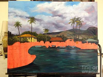 Painting - Lahaina Harbor Wip 4 by Darice Machel McGuire