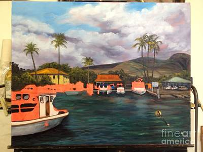 Painting - Lahaina Harbor Wip 5 by Darice Machel McGuire