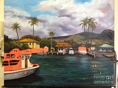 Painting - Lahaina Harbor Wip 6 by Darice Machel McGuire