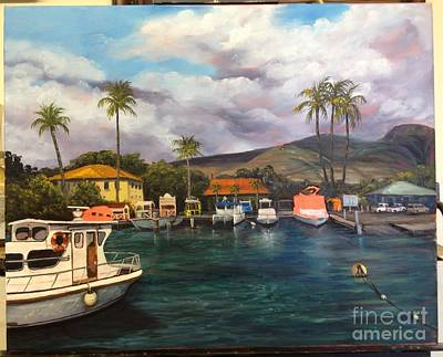 Painting - Lahaina Harbor Wip 9 by Darice Machel McGuire