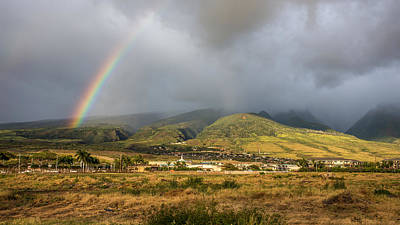 Photograph - Lahaina Maui Rainbow by Pierre Leclerc Photography