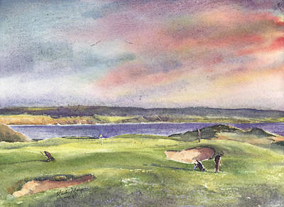 Fineartamerica.com Painting - Lahinch Sixth Hole County Clare Ireland by Keith Thompson