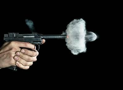 Propulsion Photograph - Lahti Pistol Shot by Herra Kuulapaa � Precires