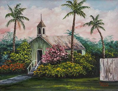 Painting - Lahuiokalani Chapel by Darice Machel McGuire