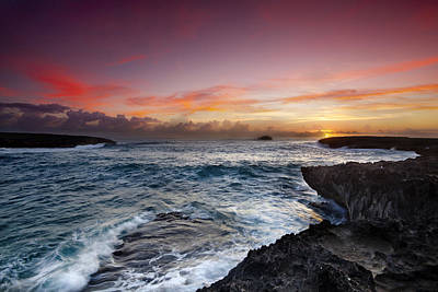 Ocean Photograph - Laie Point Sunrise by Sean Davey