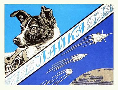 Manned Space Flight Photograph - Laika Space Dog Commemorative Packaging by Detlev Van Ravenswaay
