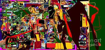 Hebrew Script Digital Art - Lail Haseder 4dbab by David Baruch Wolk