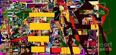 Hebrew Script Digital Art - Lail Haseder 4dbac by David Baruch Wolk