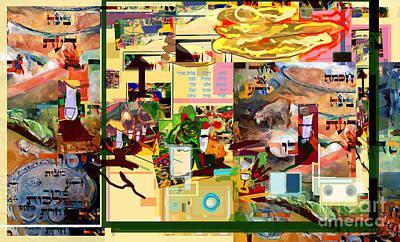 Passover Digital Art - Lail Haseder 4dbadd 5773g by David Baruch Wolk