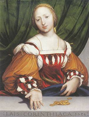 The Young Courtesan Painting - Lais Of Corinth by Hans Holbein the Younger