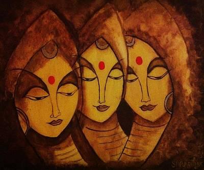Lajja - The Indian Women Expression Art Print by Shraddha Tiwari