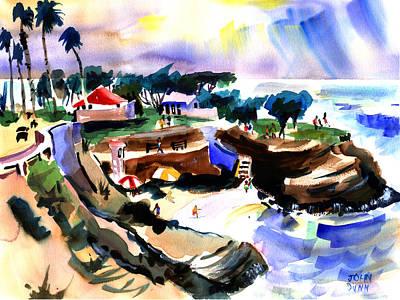 Lajolla Painting - Lajolla Cove by John Dunn