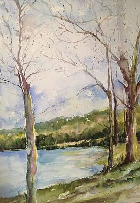 Arkansas Painting - Lake #1 North Little Rock by Robin Miller-Bookhout