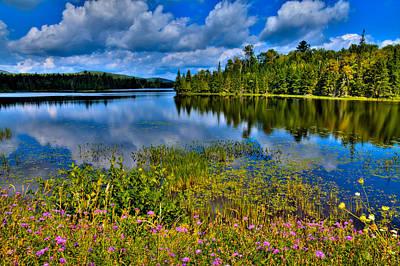 Evergreen Photograph - Lake Abanakee At Indian Lake New York by David Patterson