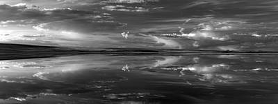 Photograph - Lake Abert 4 Black And White by Leland D Howard