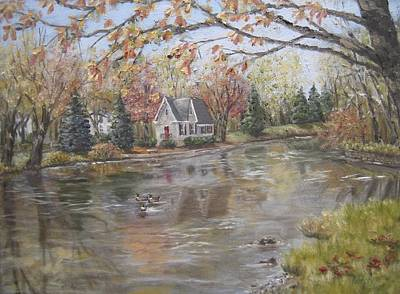 Painting - Lake Afton by Margie Perry