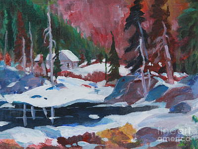 Park Scene Painting - Lake Algonquin Park  Revisited by Sherrill McCall
