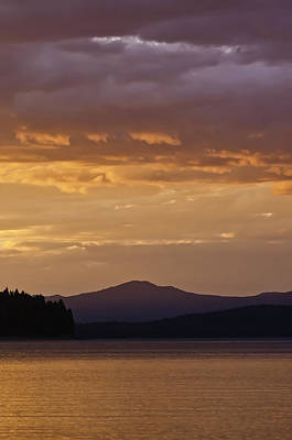 Lake Almanor Sunset Art Print by Sherri Meyer