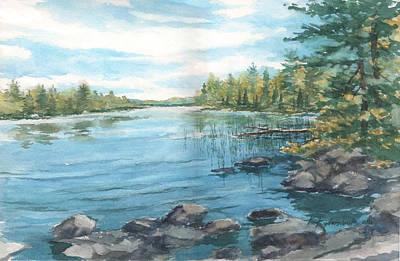 Painting - Lake Along The Gunflint Trail by Kerry Kupferschmidt