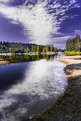 Lake Alpine Reflection Art Print by PhotoWorks By Don Hoekwater