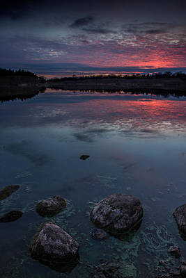 Sioux Photograph - Lake Alvin Dusk by Aaron J Groen