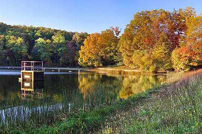 River Scenes Photograph - Lake At Chilhowee by Debra and Dave Vanderlaan