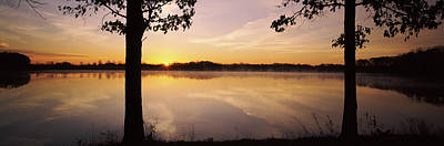 Lake At Sunrise, Stephen A. Forbes Art Print by Panoramic Images