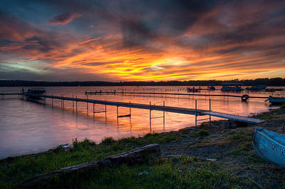 Chautauqua Lake Photograph - Lake At Sunset by At Lands End Photography