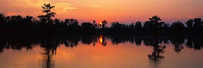 Lake At Sunset, Horseshoe Lake Art Print