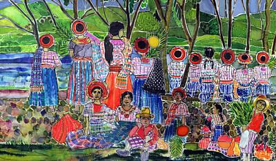 Lake Atitlan, 2005 Dyes On Silk Art Print by Hilary Simon