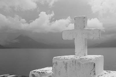 Cross Photograph - Lake Atitlan  by Kara Morrison