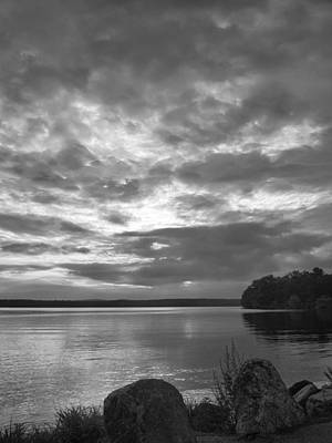 Photograph - Lake Auburn  7p00297 by Guy Whiteley