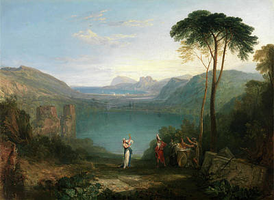 Aeneas Painting - Lake Avernus Aeneas And The Cumaean Sybil by Litz Collection