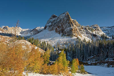 Big Cottonwood Canyon Photograph - Lake Blanche Trail And Sundial Peak by Howie Garber