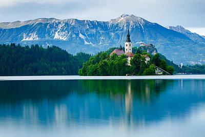 Lake Bled Island Church Art Print