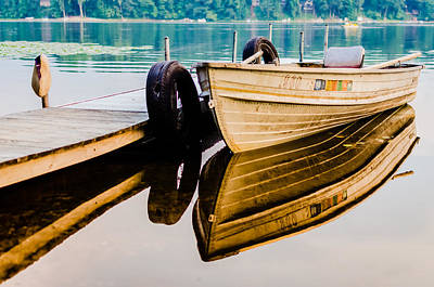 Photograph - Lake Boat Reflection by Anthony Doudt