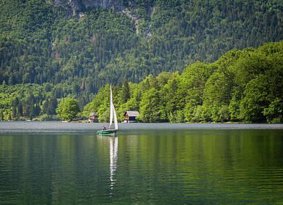 Lake Bohinj Bohinjsko Jezero, Triglav Art Print