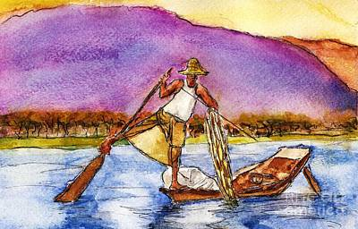 Lake Burma Fisherman Original