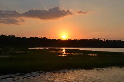 Photograph - Lake Butler Sunset In Florida by rd Erickson