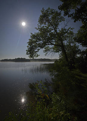 Photograph - Lake By Moonlight by Gary Eason