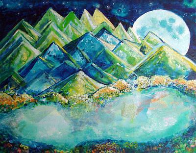 Lake By The Moon Light Original by Ashleigh Dyan Bayer