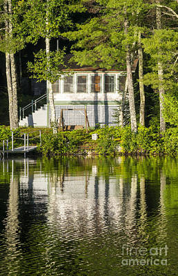 Photograph - Lake Cabin by Steven Ralser