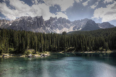 Lake Carezza Art Print