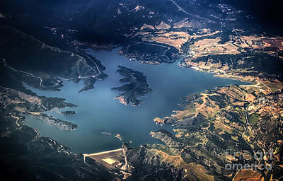 Aeriel View Photograph - Lake Casitas Aerial View by David Millenheft