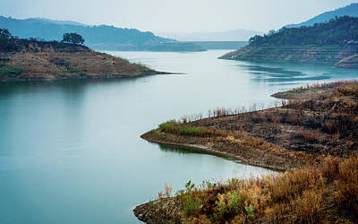 Ojai Wall Art - Photograph - Lake Casitas In The Fog by Panoramic Images
