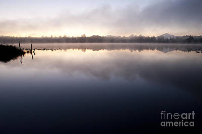 Pilchuck Photograph - Lake Cassidy Sunrise With Mount Pilchuck by Jim Corwin