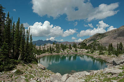 Big Cottonwood Canyon Photograph - Lake Catherine, On The Brighton Lakes by Howie Garber