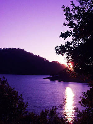 Photograph - Lake Chabot On A Summer Eve by Barbara J Blaisdell