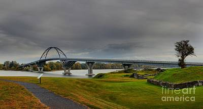 Photograph - Lake Champlain Bridge Panorama From Crown Point by Adam Jewell